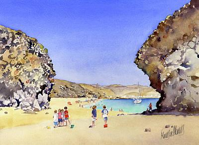 Painting - Playa De Los Muertos by Margaret Merry