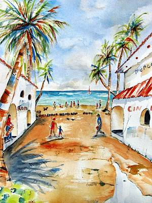 Painting - Playa Del Carmen by Carlin Blahnik CarlinArtWatercolor