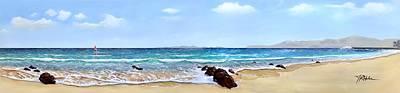Painting - Playa Grande by James R Hahn