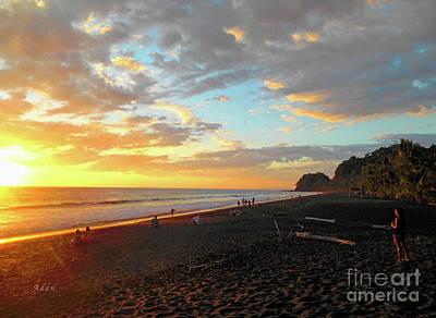 Playa Hermosa Puntarenas Costa Rica - Sunset A One Print by Felipe Adan Lerma
