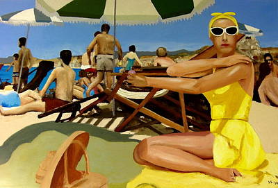 Grace Kelly Painting - Playa Riviera by Lowell Smith