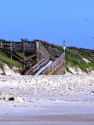 Photograph - Playalinda Beach Entrance Stairs  by Chris Mercer