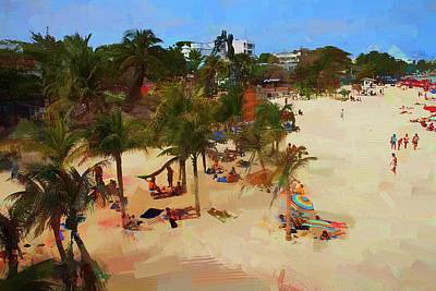 Photograph - Playas Del Carmen Beachday by Alice Gipson