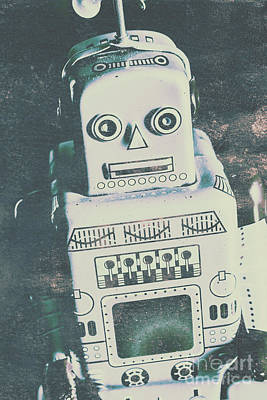 Playback The Antique Robot Print by Jorgo Photography - Wall Art Gallery