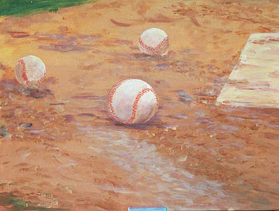 Painting - Playball by Ronald Lightcap