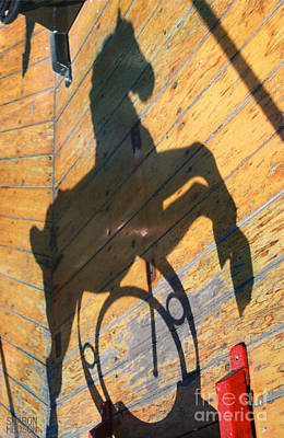 Photograph - playful carousel ponies - Shadow Pony by Sharon Hudson