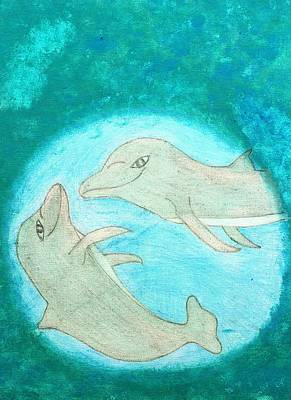 Playful Dolphins Original