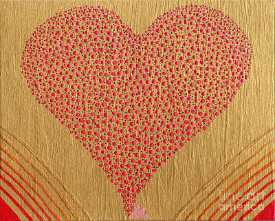 Painting - Playful Heart by Kasia Bitner