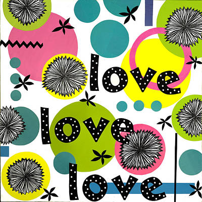 Art Print featuring the mixed media Playful Love by Gloria Rothrock