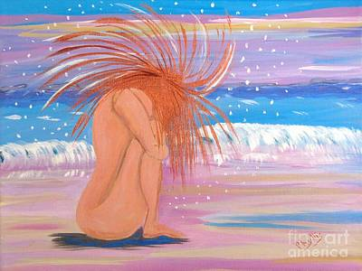 Painting - Playful Nude by Phyllis Kaltenbach