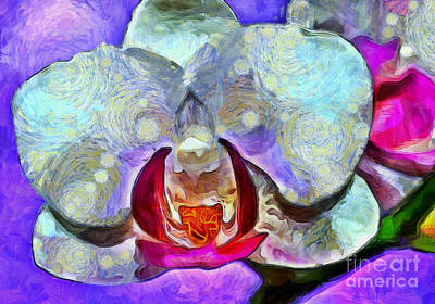 Nature Abstracts Photograph - Playful Orchid by Krissy Katsimbras