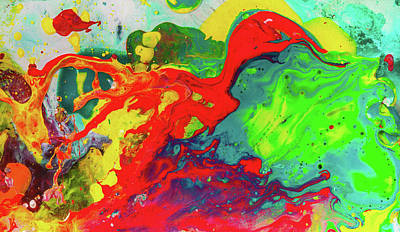 Painting - Playful Spring - Colorful Happy Abstract Art Painting by Modern Abstract
