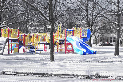 Photograph - Playground 16d by Brian Gryphon