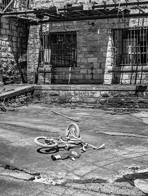 The Economy Photograph - Playground Bw by Steve Harrington