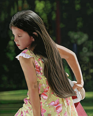 Playground Digital Art - Playground Girl by Kevin Phipps