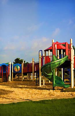 Oil Photograph - Playground I by Ricky Barnard