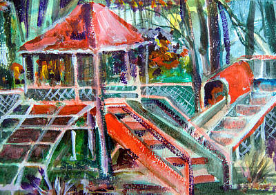 Dreamscape Drawing - Playground Of The Heart by Mindy Newman