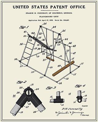 Playground Digital Art - Playground Patent by Finlay McNevin