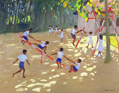 Shirt Painting - Playground Sri Lanka by Andrew Macara