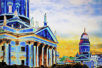 Berlin Mixed Media - Playhouse And French Dome by Nica Art Studio