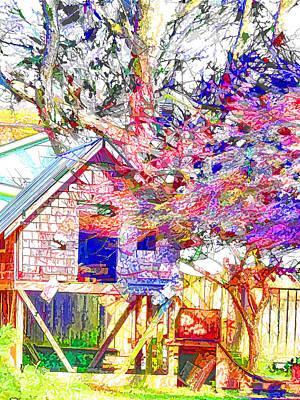 Swansboro Painting - Playhouse by Lanjee Chee