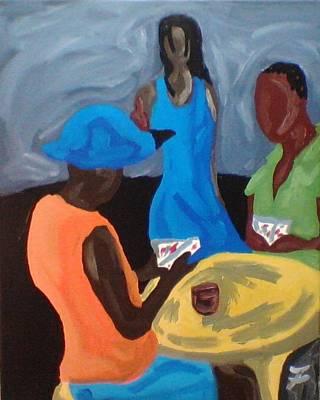 Fleurant Painting - Playin Cards by Jason JaFleu Fleurant