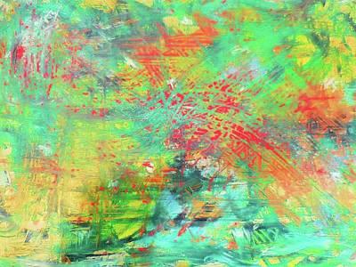 Abstract Art Painting - Playing Along by Karen Lillard