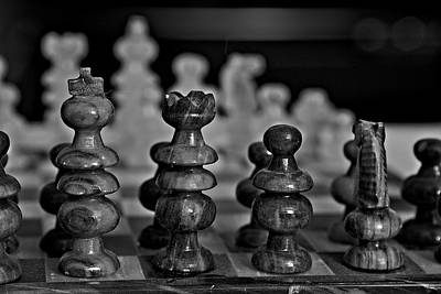 Photograph - Playing Chess 2 by Cendrine Marrouat