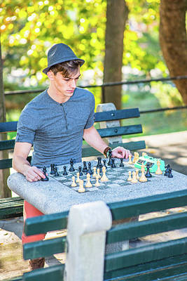 Photograph - Playing Chess by Alexander Image