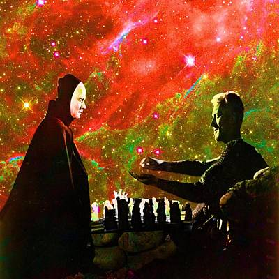 Playing Chess With Death Art Print by Matthew Lacey
