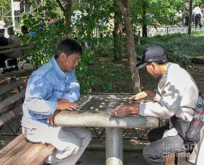 Photograph - Playing Chinese Chess In The Park by Patricia Hofmeester