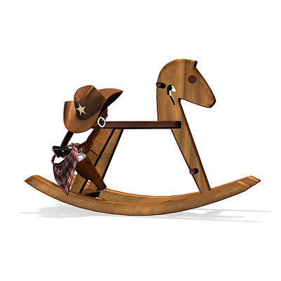 Digital Art - Playing Cowboy by Frederico Borges