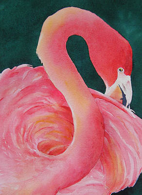 Art Print featuring the painting Playing Coy by Judy Mercer