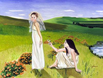 Playing Art Print by Gloria Cigolini-DePietro