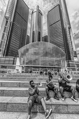 Photograph - Playing Horns In Detroit  by John McGraw