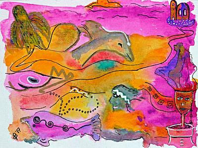 Fish Underwater Painting - Playing In Deep Waters by Dagmar Batyahav