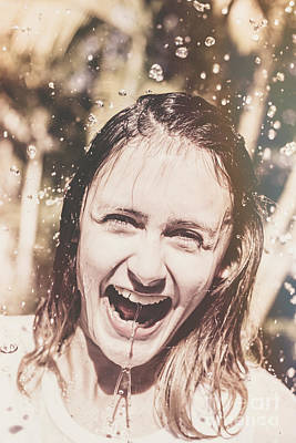 Playing In The Rain Art Print by Jorgo Photography - Wall Art Gallery