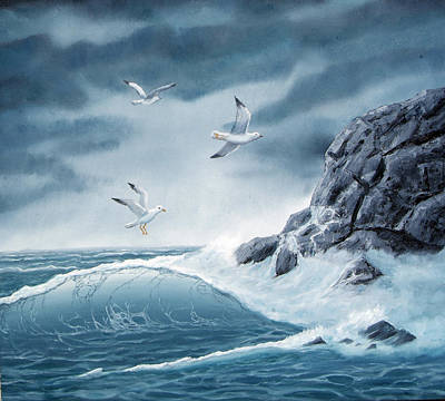 Painting - Playing In The Tempest by Lorraine Foster