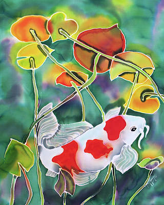 Painting - Playing Koi by Tiff