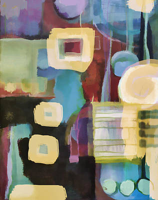Painting - Playing Nice With Circles And Squares  by Susan Stone
