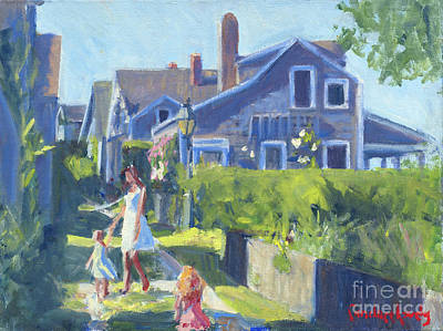 Painting - Playing On Front Street by Candace Lovely