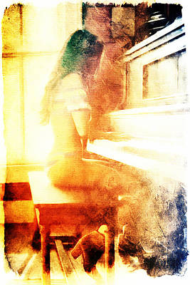 Digital Art - Playing Piano At The Window by Andrea Barbieri