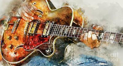 Playing The Blues Print by Jon Neidert
