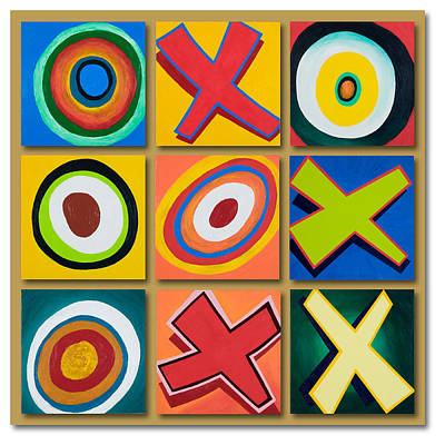 Painting - Playing Tic-tac-toe With Kandinsky by Garry McMichael