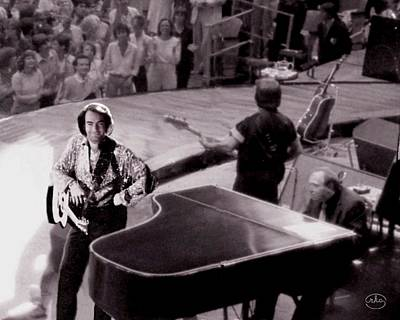 Neil Diamond Photograph - Playing To The Backstage by Ron Chambers