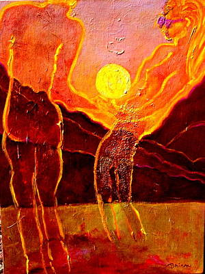 Painting - Playing With The Moon by Shakti Brien