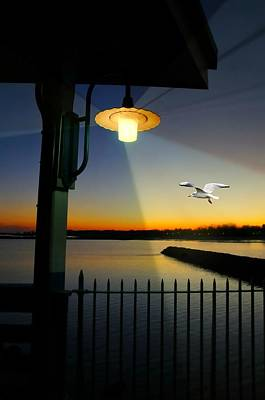 Photograph - Playland Pier Lantern by Diana Angstadt