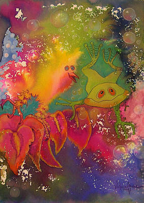 Painting - Playmates 1 by Valerie Aune