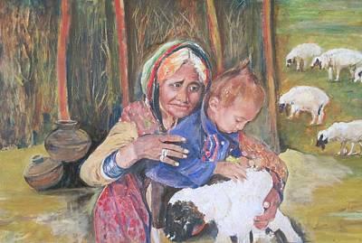 Bangles Painting - Playthings. by Khalid Saeed