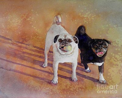 Pug Wall Art - Painting - Playtime by Amy Kirkpatrick